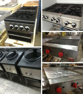 Stock pot ranges, Stoves, Grills, Griddles, Chinese wok ranges