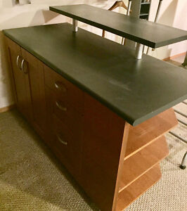 Display Bar with Shelving, Drawers & Cabinet $250.00 OBO