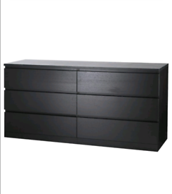 MALM Black/brown IKEA drawers