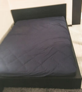 USED IKEA MALM QUEEN-SIZE BED FRAME, PICK UP ONLY