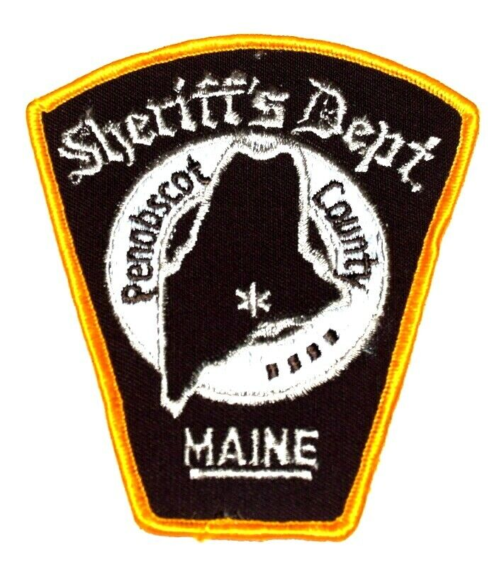PENOBSCOT COUNTY MAINE ME Sheriff Police Patch CITY STAR TOMBSTONE SHAPE AA24