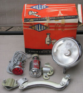 MILLER England Bicycle Headlight,Tail Light, Generator