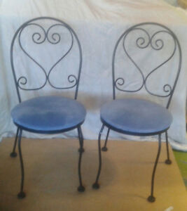 Vintage steel bar chairs.  Great condition