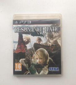 PS3 PlayStation 3 Video Game Resonance of fate / Sega RPG