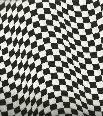 Black and White Checkered Flag Timeless Treasures fabric](Checkered Flag Fabric)