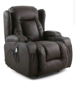 Brown or Cream Manual Recliner rocking swivel Armchairs New free local