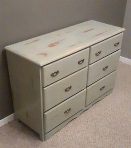 Rustic shabby chic dresser newly finished $150
