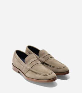 Cole Haan Jefferson Grand Penny Loafers (Sea Otter Suede)