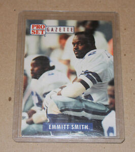1991 Pro Set Gazette #1 Emmitt Smith Dallas Cowboys