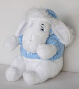 Disney-Store-Eeyore-Holiday-Plush-Knit-Blue-Snowflakes-Sweater-Stuffed-Hat-Cap