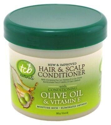 (3 Pack) TCB NATURALS CONDITIONER H&S OLIVE OIL & VIT-E JAR 10 -