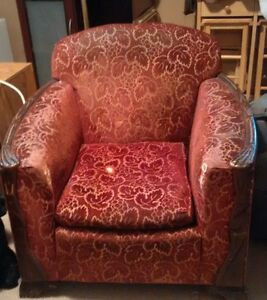 Upholstered Club Chair Vintage