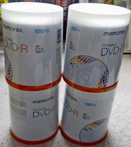 Brand new Memorex printable DVD 4.7gb blank disc 16x