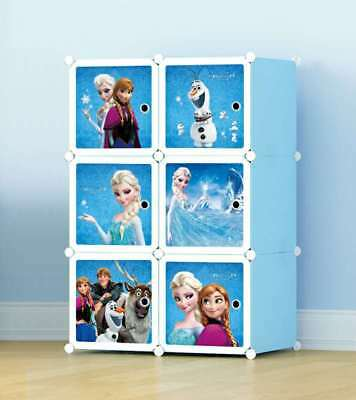 New Disney Kids Toy Box Storage Cabinet containers Children Clothes Organiser