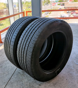 Set of two 225/55/16 Goodyear all season tires.
