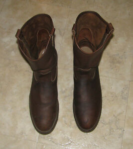 Red Wing steel toed work boots, size 13D