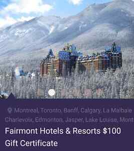 Gift Card- Fairmont Hotels & Resorts Kitchener / Waterloo Kitchener Area image 2