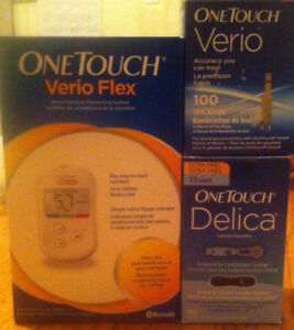 One touch verio strips + tester + lancets all for $35.00