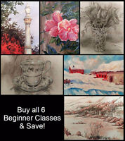 Today Only 50% off Beginner Art Classes