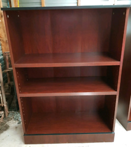 2 Beautiful Matching Cherrywood Bookcases