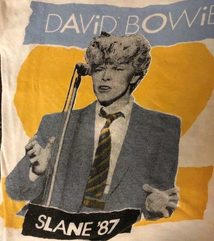 VINTAGE David Bowie 1987 Glass Spider Tour Tank Top SLANE CASTLE IRELAND rare!!!