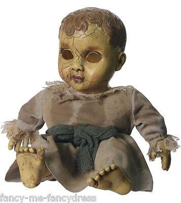 Gespenstisch Geräusche Aufgegeben Babypuppe Halloween Kostüm Kleid (Baby Puppe Halloween Kostüm)