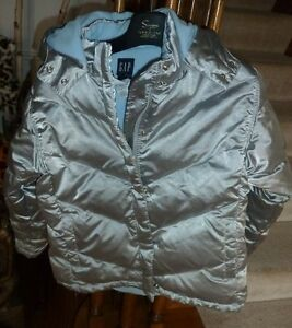 Kids Silver Down-Filled Warm Ski Jacket with Hood London Ontario image 1