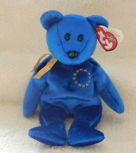 Unity the European Union Bear Ty Beanie Baby stuffed animal Kitchener / Waterloo Kitchener Area image 1