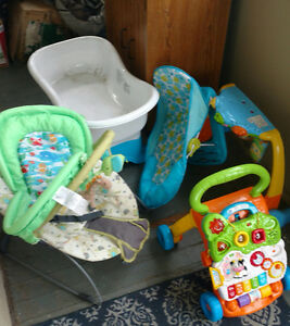 Baby bath , chair , some toys free