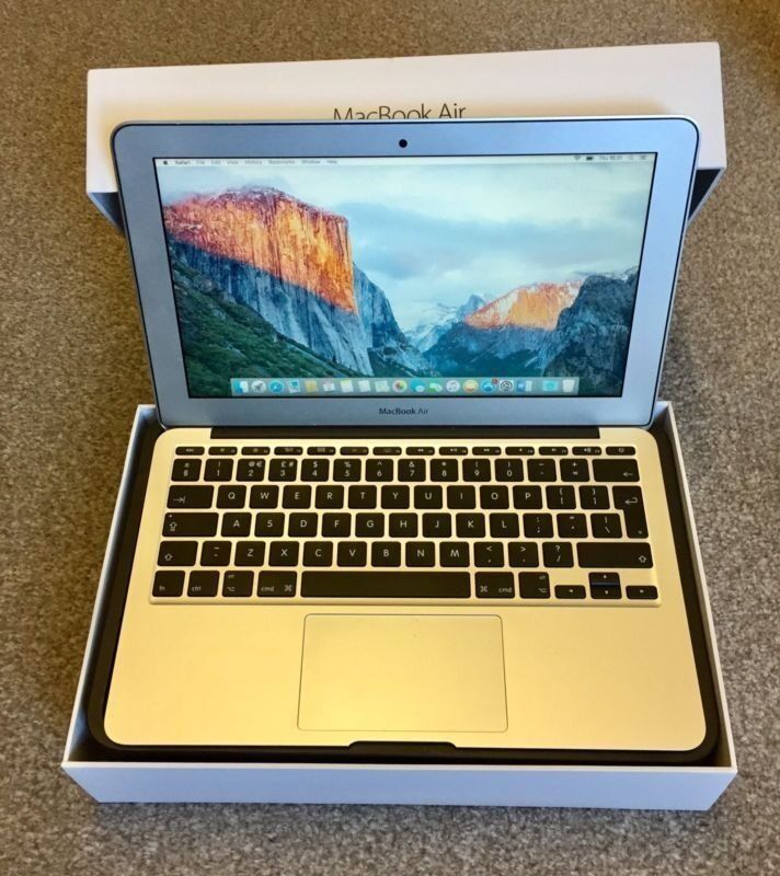 """Macbook Air 11"""" 128GB in Immaculate conditionin Okehampton, DevonGumtree - MacBook Air 11"""" 128gb in immaculate condition, hardly been used and it has always been kept in a case and sleeve. Purchased in March 2015. Core i5 1.4ghz with 4gb of Ram. Comes in box with charger. Only selling due to it not being used. Any..."""