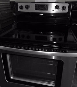 SS Whirlpool Glass Stove in Very Good Condition