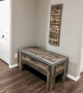 Hand made solid wood Storage bench