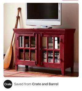 "Crate and Barrel 42"" Media Cabinet"