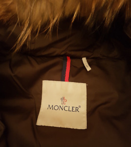 MONCLER LONG DOWN JACKET WITH FUR