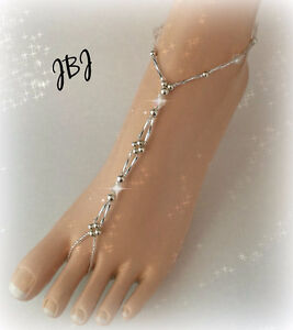 BAREFOOT SANDALS  - Custom Handmade for Brides and Bridal Party