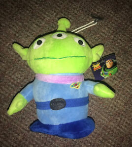 "Toy Story Alien 8"" Plush Stuffed Doll w Window Suction Cup NEW!!"