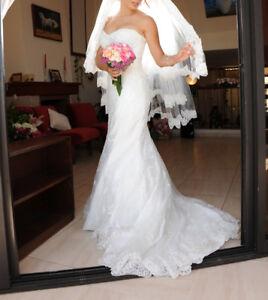 Robe de mariée élégante avec voile