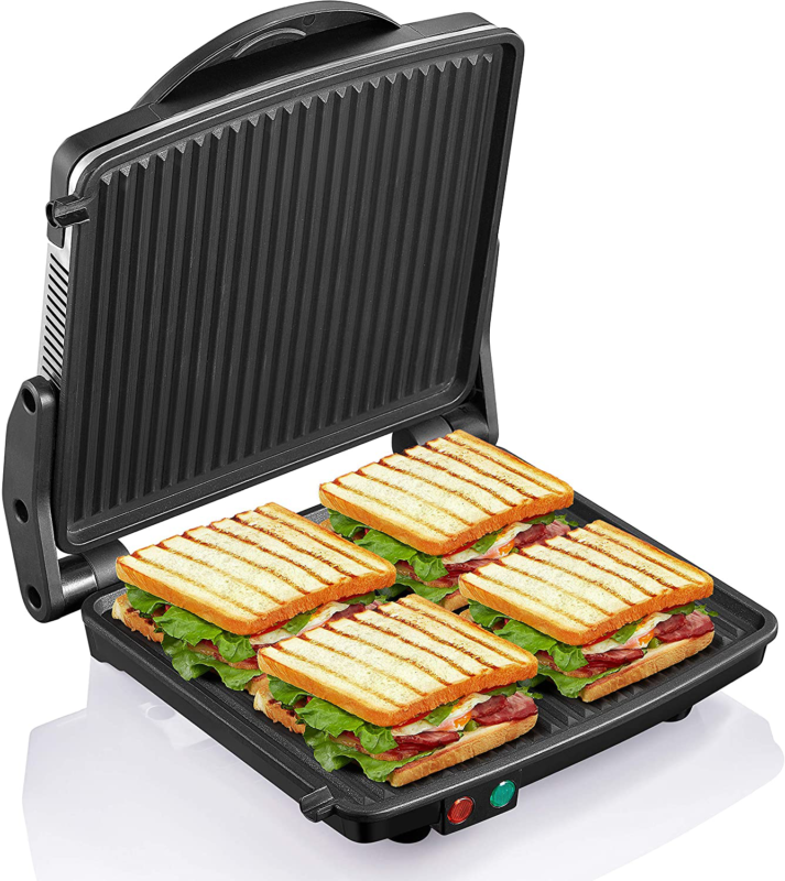 Panini Grill Press Commercial Electric Grilled Sandwich Toas