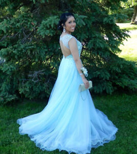 Light Blue Prom Dress - Size 2-4 - $350 OBO