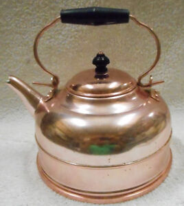 Vintage 2Qt Copper Tea Kettle