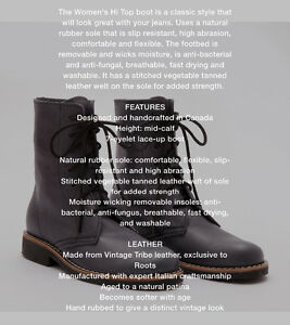 Roots. High Top boots.  200 or best offer