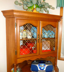 ROCK MAPLE Hutch & Corner Cabinet ONE HOME F/ NEW—Solid Hardwood