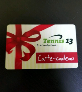 Tennis 13 gift card - balance is 409,31$