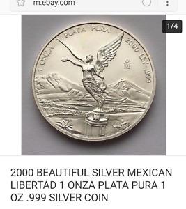 2000 1 onza Plata pura .999