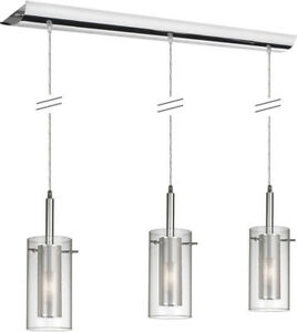 Modern Dainolite Chrome Pendant light