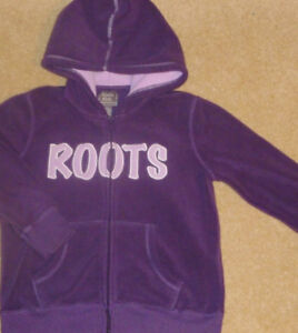ROOTS - Girls Size 7/8 Full Zip Hooded Jacket