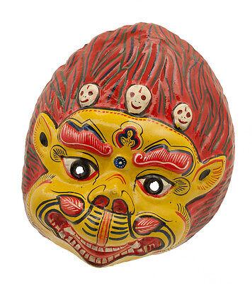 Mask Hat and Mitten Set Demon Devil Indra Jatra Festival Nepal Paper Mache 2428