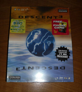 Descent 3 Interplay New Sealed Big Box PC / Computer Video Game