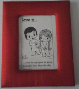 Red fabric frames