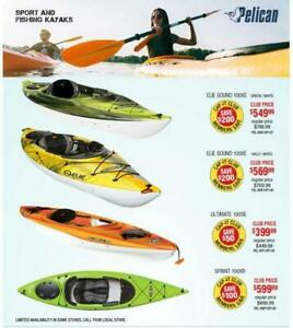 Recreation Kayak Sales Event at Cap-it